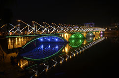 Night bridge Royalty Free Stock Photography
