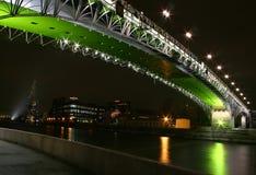 Night bridge. Moscow royalty free stock photo