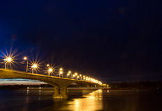 Night bridge Stock Photography