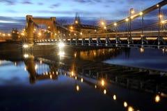 Night on Bridge Stock Images