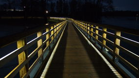 Night bridge and city lights Royalty Free Stock Photo