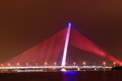 Night bridge Royalty Free Stock Photography