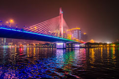 Night Bridge Royalty Free Stock Photos