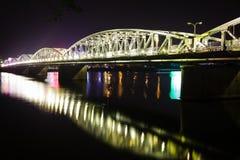 Night bridge at Hue, Vietnam Royalty Free Stock Images