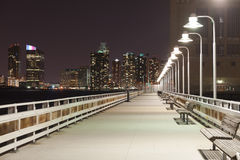 Night bridge with lanterns Stock Photos