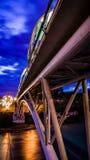 Night bridge Stock Images