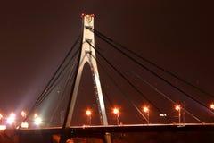 Night bridge. Over the river royalty free stock photos