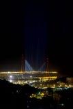 Night bridge with the original lighting Stock Photography