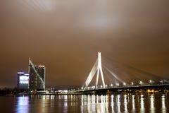 Night bridge Stock Photo