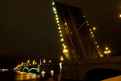 Night bridge Petersburg Royalty Free Stock Photography