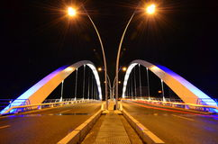 Night bridge - power structure Royalty Free Stock Image