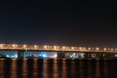 Night Bridge Stock Photography