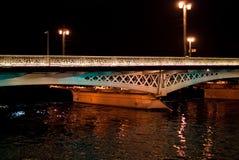 Night bridge in St. Petersburg city Stock Images
