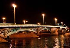 Night bridge in St. Petersburg city Royalty Free Stock Photos