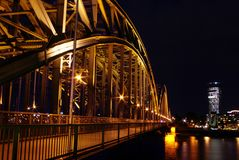 Night bridge Royalty Free Stock Image