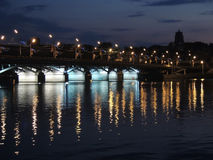Night Bridge in Voronezh Stock Photos