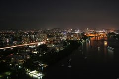 Night@Brisbane Images libres de droits
