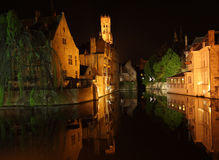 Night Bruges Stock Photo