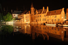 Night Bruges Royalty Free Stock Images