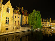 Night in Bruges Royalty Free Stock Photography