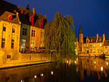 Night in Bruges Stock Photos
