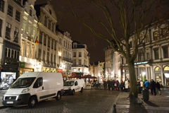 Night Brussels. Stock Photo