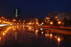 Night on Bucharest Royalty Free Stock Image