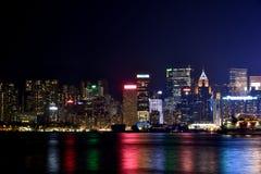 Night buildings of Hongkong Victoria harbor, 2016. Night view and lightinging of Hongkong victoria harbor Stock Photography
