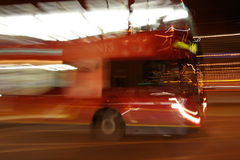 Night Bus. London Bus with nighttime motion blur Royalty Free Stock Photo