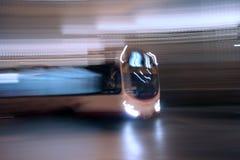 Night Bus. Bus Speeding Through The Night Stock Image