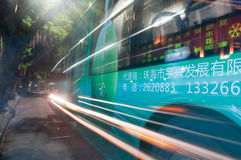 Night bus Stock Images