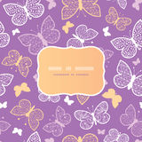 Night butterflies frame seamless pattern Stock Photo