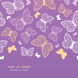 Night butterflies horizontal seamless pattern Stock Images
