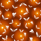 Night butterfly moth seamless. Night white butterfly moth fly around light seamless Stock Photography
