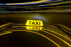 Night cab Royalty Free Stock Photos