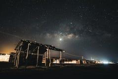 Milky way in Cabo de la Vela, Guajira stock photos