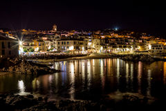 At the night in Calella Stock Photo
