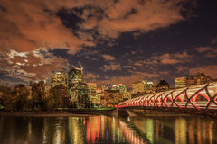 Night Calgary Royalty Free Stock Image
