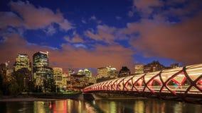Night Calgary stock video footage