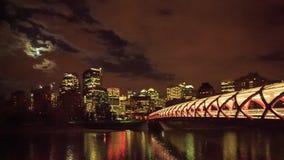 Night Calgary stock video