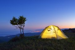 Night camping Royalty Free Stock Photos