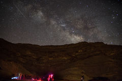 Night camping under stars Stock Photography