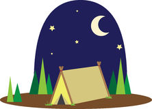 Night  Campsite Royalty Free Stock Photos