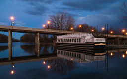Night on the canal. Stock Photo