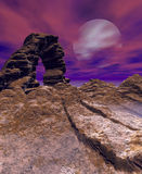 Night canyon arch Royalty Free Stock Images