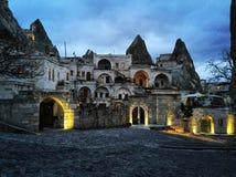 Night in Cappadocia. Anatolian Houses Cave Hotel in Turkey, Capladocia Stock Images