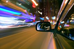 Night car drive Royalty Free Stock Photos