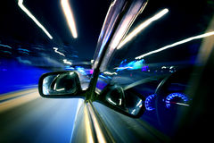 Night car drive Stock Images