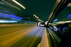 Night car drive Royalty Free Stock Images