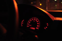 At night in the car Royalty Free Stock Photo